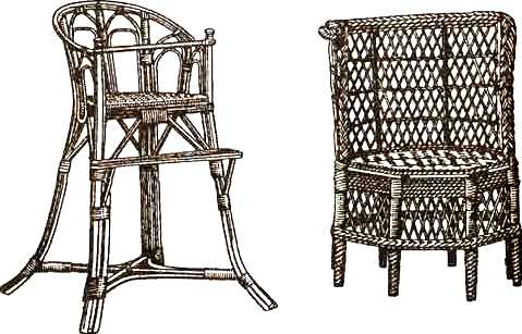 плетеное детское кресло