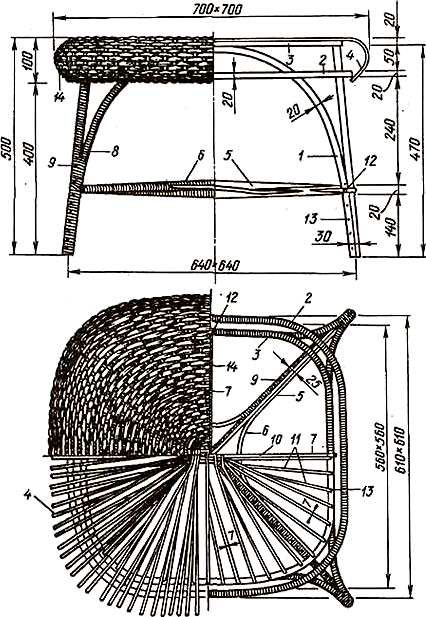 изготовление плетеного детского стола