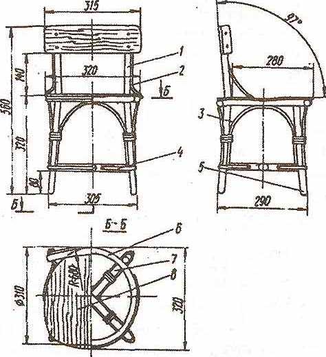 Детский плетеный стул