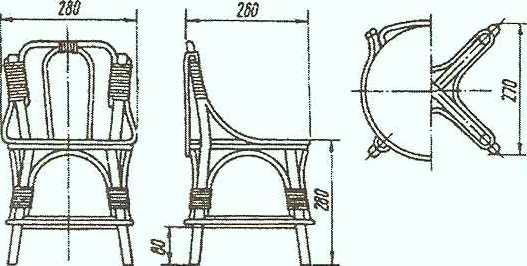 жесткий плетеный детский стул