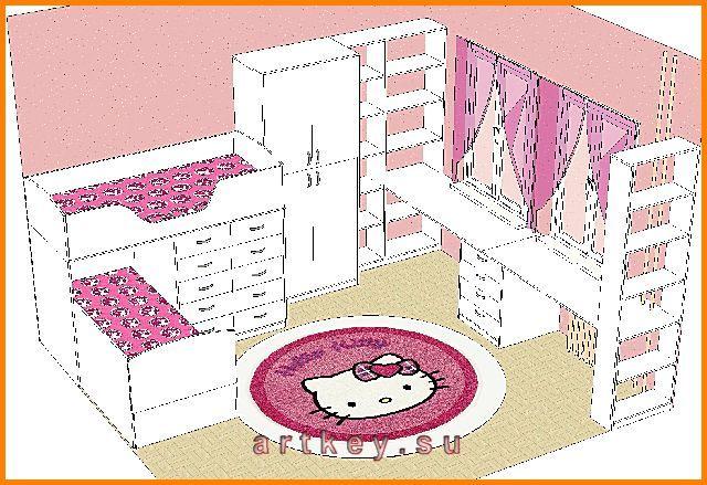Проекты детской мебели 55 - проекты мебели - детская мебель.